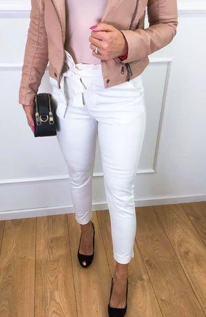 Spodnie białe eleganckie