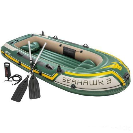 Трехместная надувная лодка 295х137х43 см Intex Seahawk 3 Set