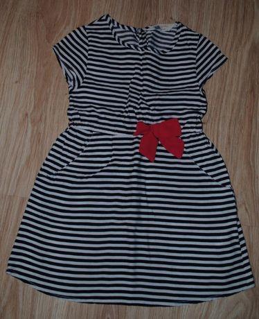 L61-> sukienka na upały przewiewna H&M 98/104 2-4Y pasy marine