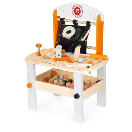 Drewniany warsztat dla dzieci , 63 elementy