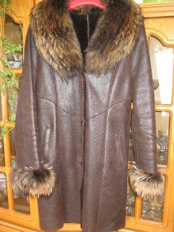 Kożuch naturalny kożuszek lis płaszcz