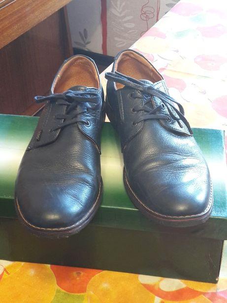 Туфли подростковые кожаные р.39