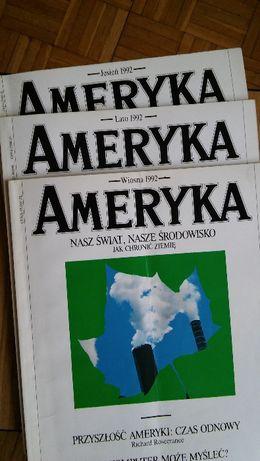 AMERYKA, Kwartalnik, 3 numery z 1992r. !!! TANIO !!! Cena za Całość !
