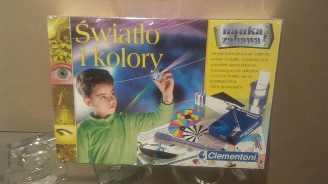 Gra Światło i kolory nauka i zabawa Clementoni gra zestaw pudełko