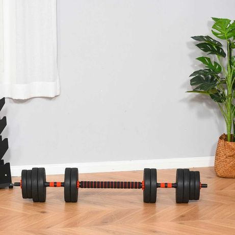 Jogo de Halteres 2 em 1 - 25 kg - Entrega Gratis