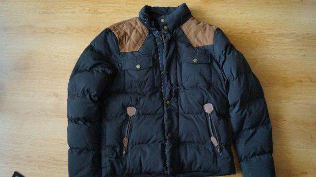 kurtka zimowa z łatkami
