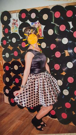 Платье в горох для вечеринки Стиляги