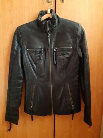 Кожаная куртка (на одинарном синтепоне)