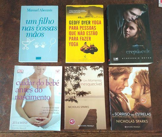 Livros diversos como novos e usados