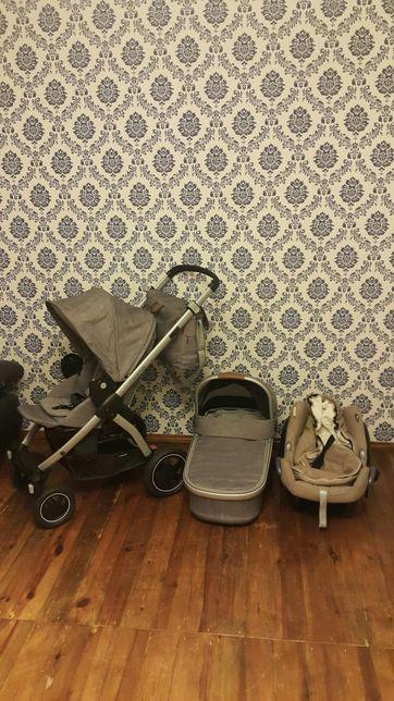 MAXI COSI STELLA 3w1 wózek głęboko-spacerowy,torba, fotelik,nosidło