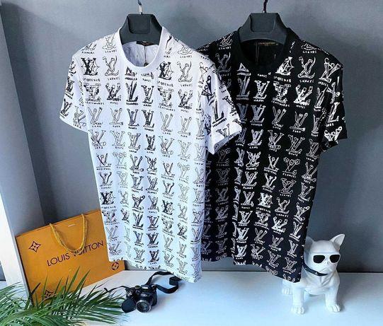 Брендовые футболки мужские Louis Vuitton, Футболка Луи Виттон,  LV