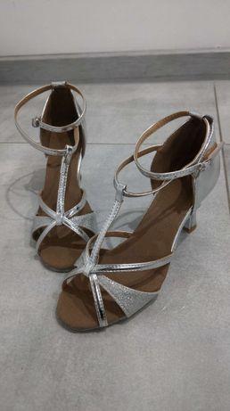 Buty taneczne srebrne, r. 37