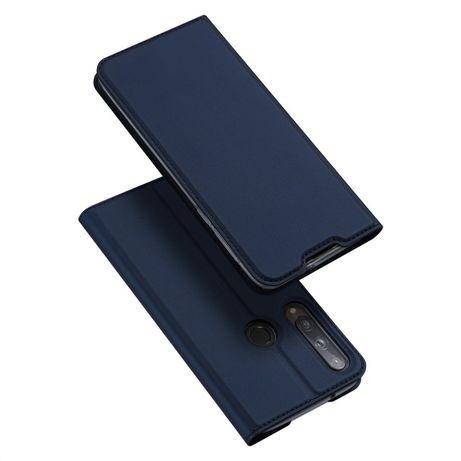 Capa Livro Horizontal Skin Pro Dux Ducis Huawei P40 Lite E - Azul
