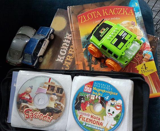 Zestaw dziecięcy książeczki bajki autko płyty