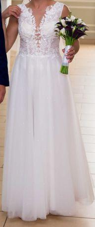 Sprzedam suknie ślubną Biały Raj rozmiar 38
