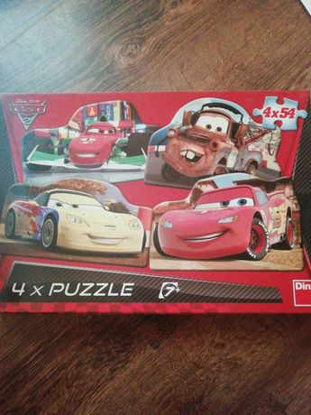 Puzzle cars2 4 x  Obrazki