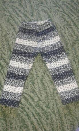 Теплі лосіни для дівчинки лосины і в подарунок тепленькі рукавички