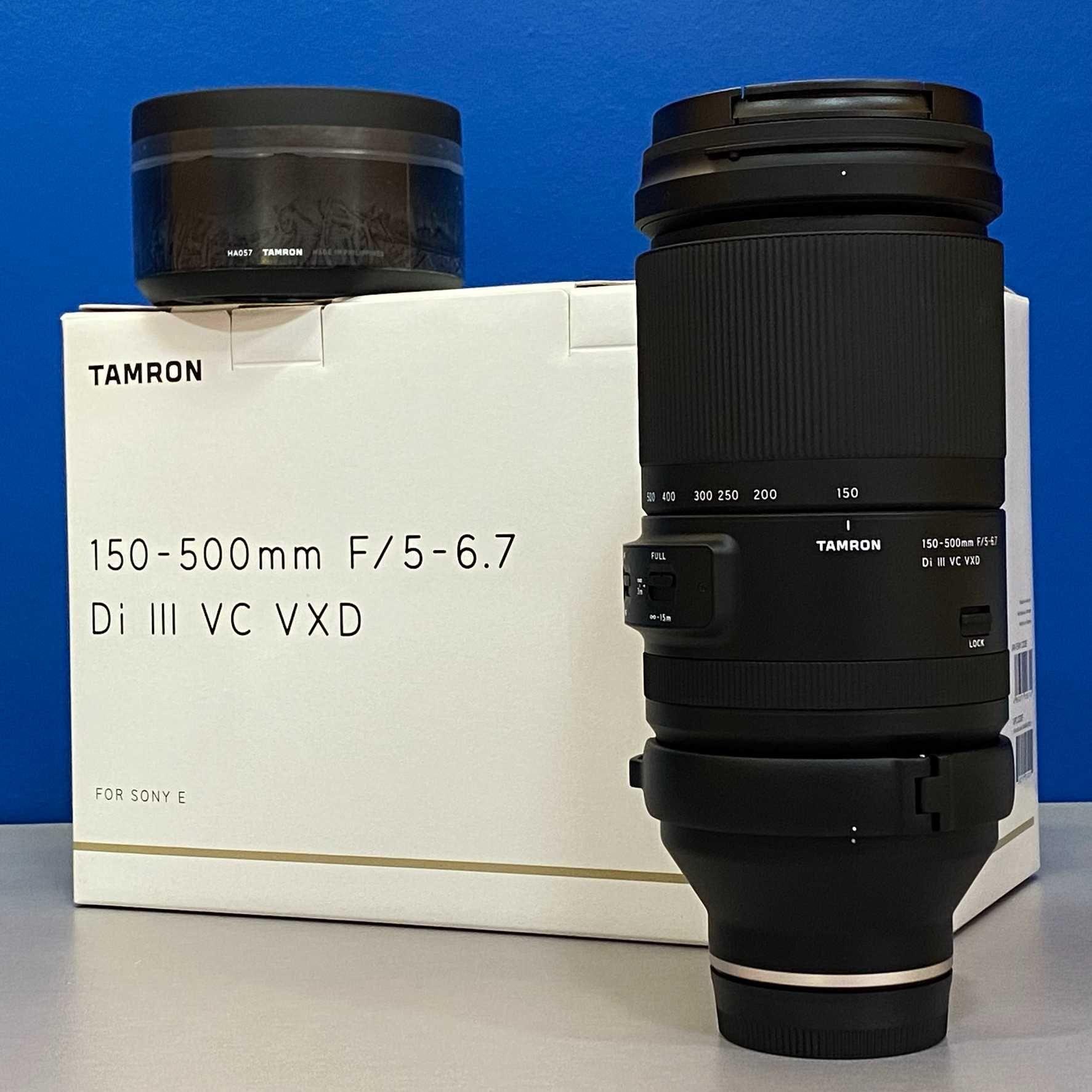 Tamron 150-500mm f/5-6.7 Di III VC VXD (Sony FE) - 5 ANOS DE GARANTIA