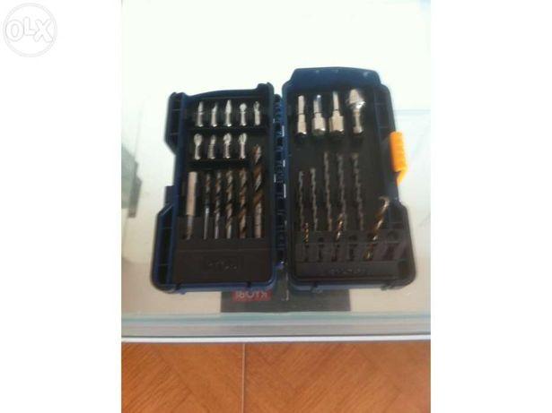 Caixa de brocas e acessórios de perfuração Ryobi