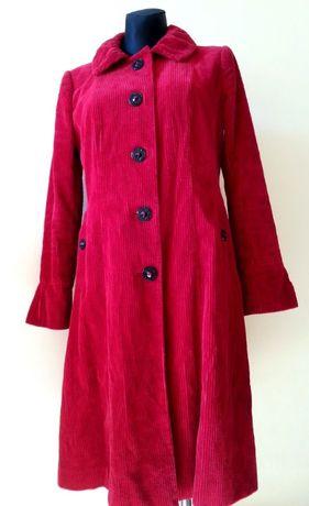 płaszczyk jesienny na styl retro r.10 (38) per una sztruks bawełna