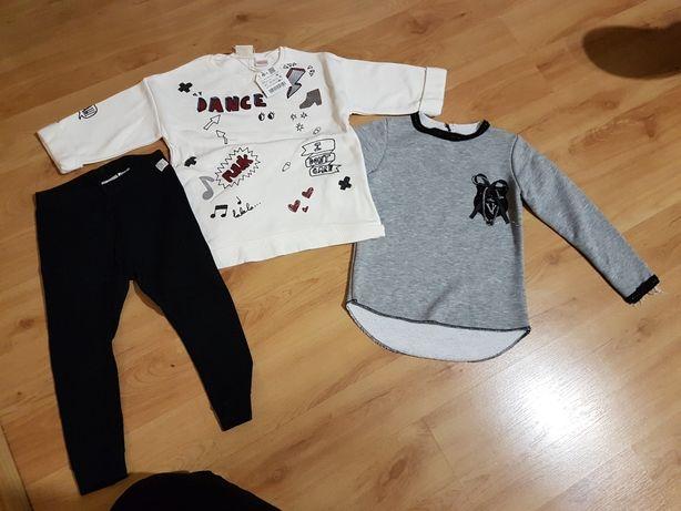 Bluzy i leginsy dla dziewczynki rozmiar 98