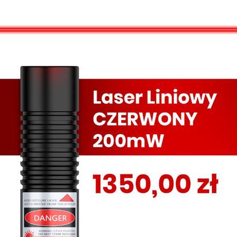 Laser Liniowy Czerwony 200mW   do obróbki drewna i kamienia