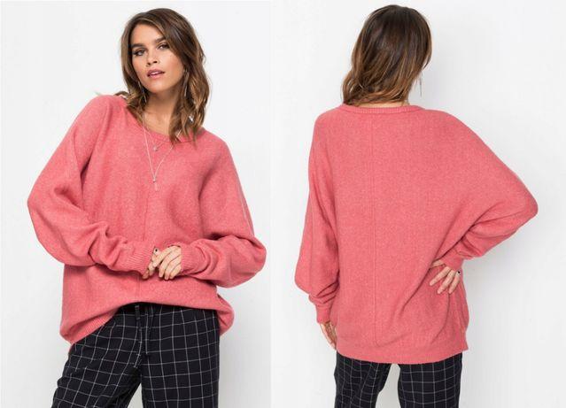 Koralowy sweter RAINBOW 42/44