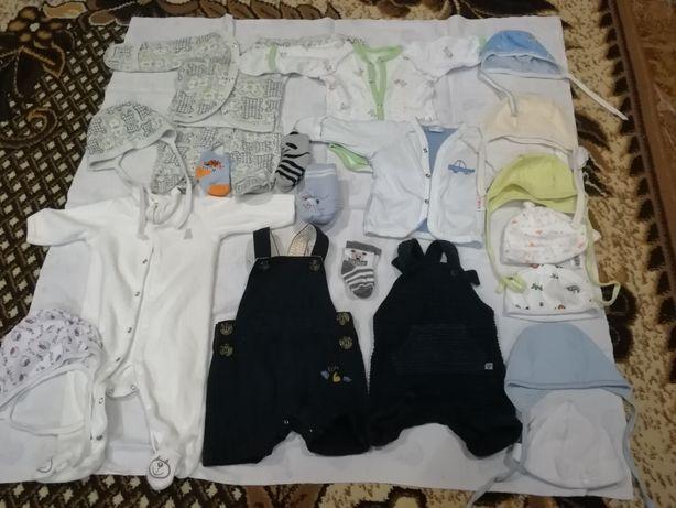 Продам пакет вещей на мальчика 0-3мес