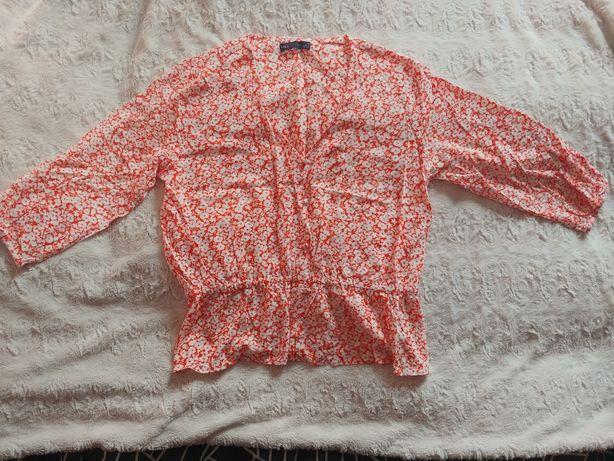 Marks and Spencer wiskozowa bluzka floral w stylu retro rozmiar 44