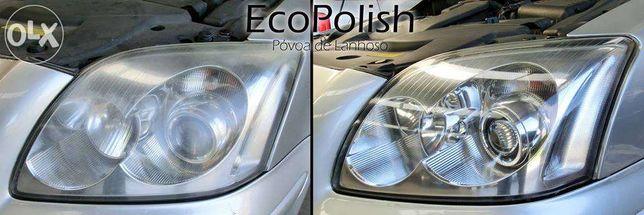 Polimento de faróis e automóveis Detalhe automóvel Eliminar riscos