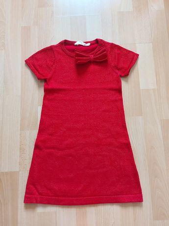 Brokatowa sukienka z H&M r.110