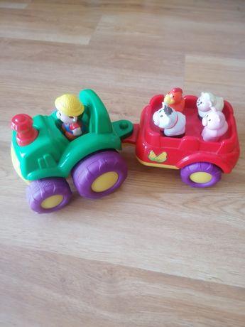 Traktorek ze zwierzętami Smiki
