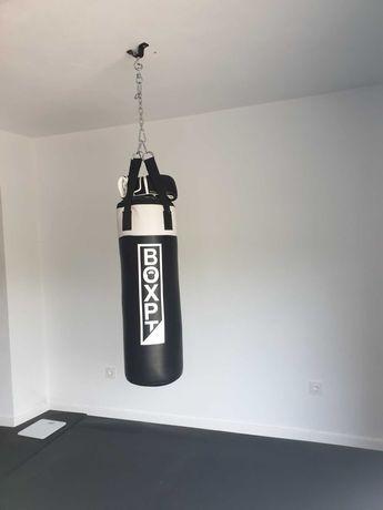 Saco boxe + luvas