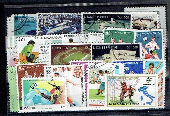 Filatelia- FUTEBOL 50 selos diferentes usados