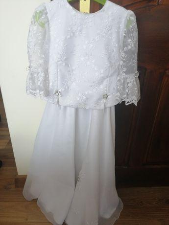 Sukienka+ bolerko komunia+ dodatki