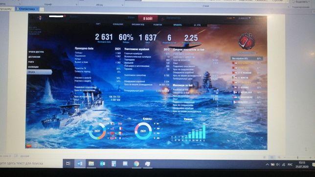 Аккаунт World of warships, 60%
