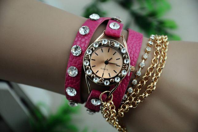 R0120 Relógio Quartz com Bracelete em Pele - Estilo Hawaiian