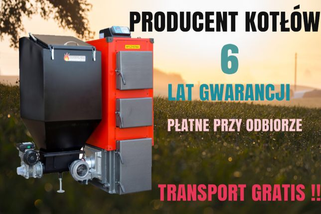 22 kW do 160 m2 PIEC z podajnikiem na EKOGROSZEK kotły KOCIOŁ 19 20 21