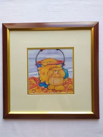 Картина детская мишки на море