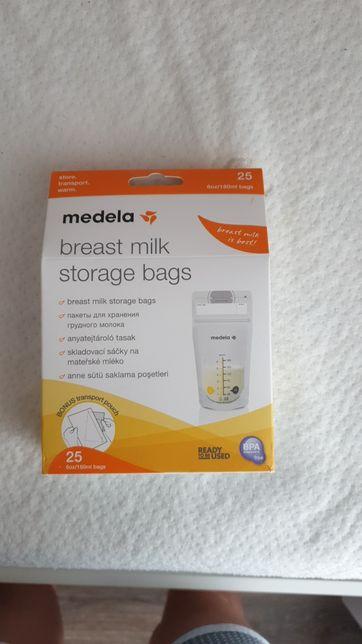 Пакети для зберігання грудного молока,запаковані.