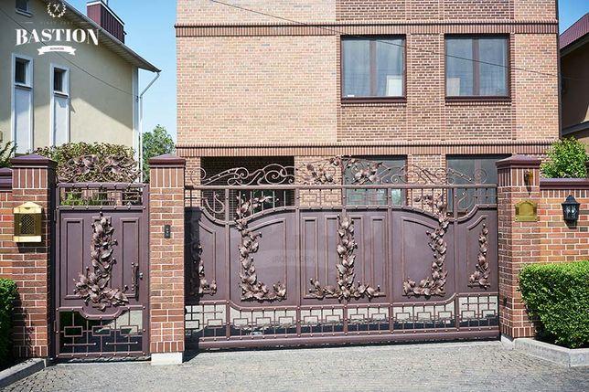 17 Ворота кованые калитки перила ограждения террас балконов БАСТИОН