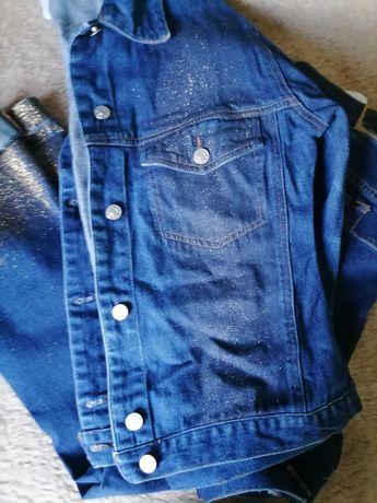 Jeansy Liu Jo z brokatem + Kurteczka Jeans również z brokatem Liu Jo