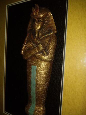CENA Ostatecznie już.Figura Faraona w ramie za szklem