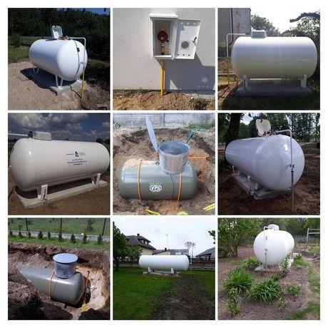 Zbiornik na gaz płynny 2700L / 3700L / 4850L / 6400L naziemny