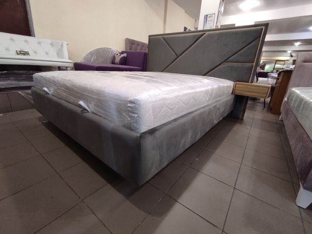 Ліжко Стронг з матрацом і тумбами, кровать, матрас