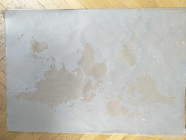 Szablon malarski wielokrotnego użytku 65x95/mapa świata