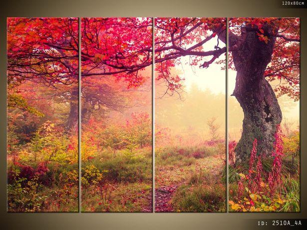 OBRAZ na płótnie, Jesienny krajobraz, inne układy, płótno Canvas
