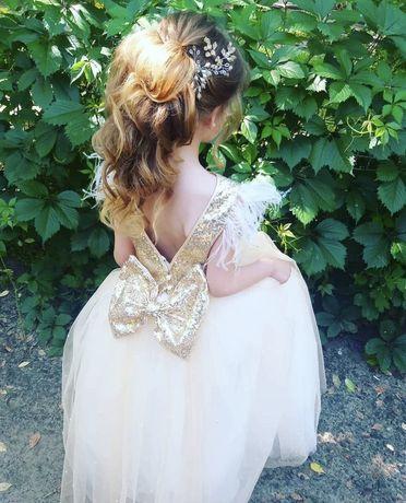 Шикарное нарядное платье 128-140см