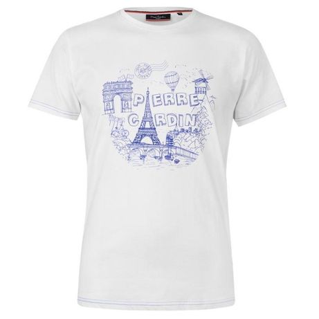 Pierre Cardin Paris t-shirt koszulka biała XL lub L