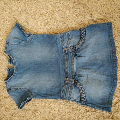 Sukieneczka jeans 104, sukienka, krótki rękaw. Next. Dla dziewczynki
